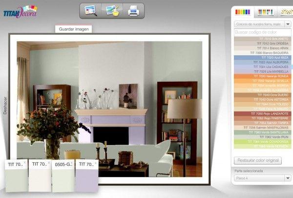 Simulador colores decoracion decoracion pinterest - Simulador de colores para paredes ...