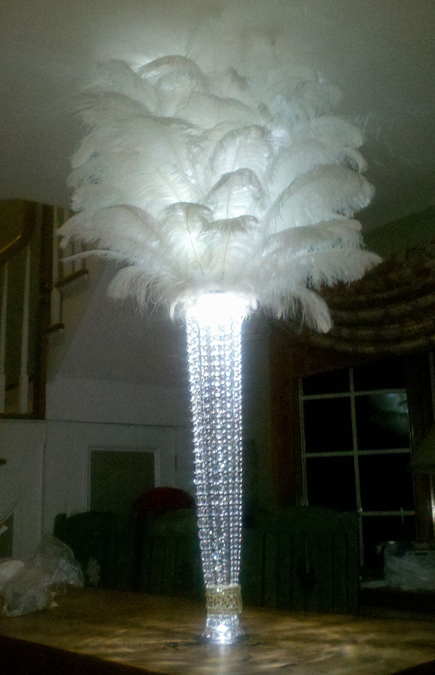 Rent ostrich feather centerpieces includes quot reversible