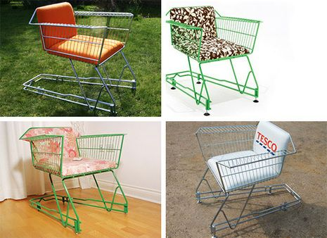 Diy Chairs Awesome Of Recycled Shopping Cart Chairs Curbly Diy Design Amp Decor