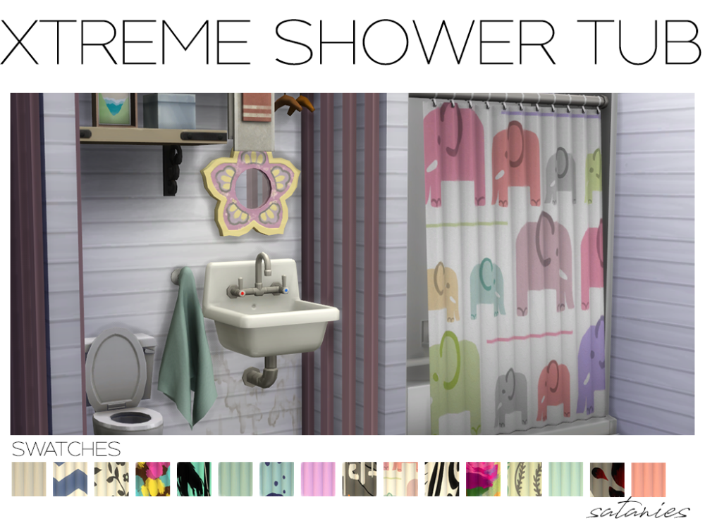 Mmoutfitters Sataniesims Ever Wished The Parenthood Shower Had Shower Tub Sims 4 Sims 4 Bedroom
