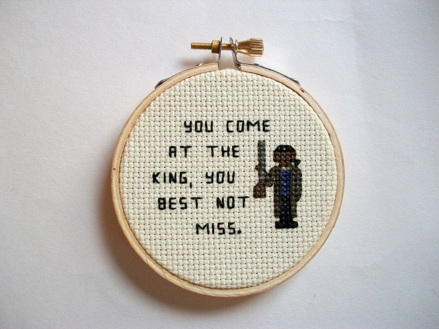 Omar Little cross stitch -- The Wire inspired cross stitch, You come ...