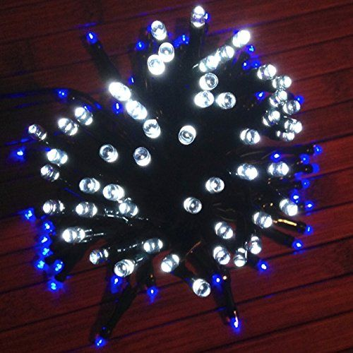DeVida Blue and Cool White Solar Christmas Hanukkah String Lights Outdoor  Decorations Gifts 100 Mini LED Color Set For Tree Yard Patio Home Exterior  Jewish ... - DeVida Blue And Cool White Solar Christmas Hanukkah String Lights