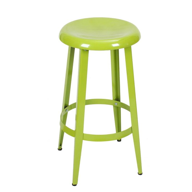 Joveco Metal Round Top Backless 26 Inch Stool Metal Counter Stools Counter Stools Metal Bar Stools