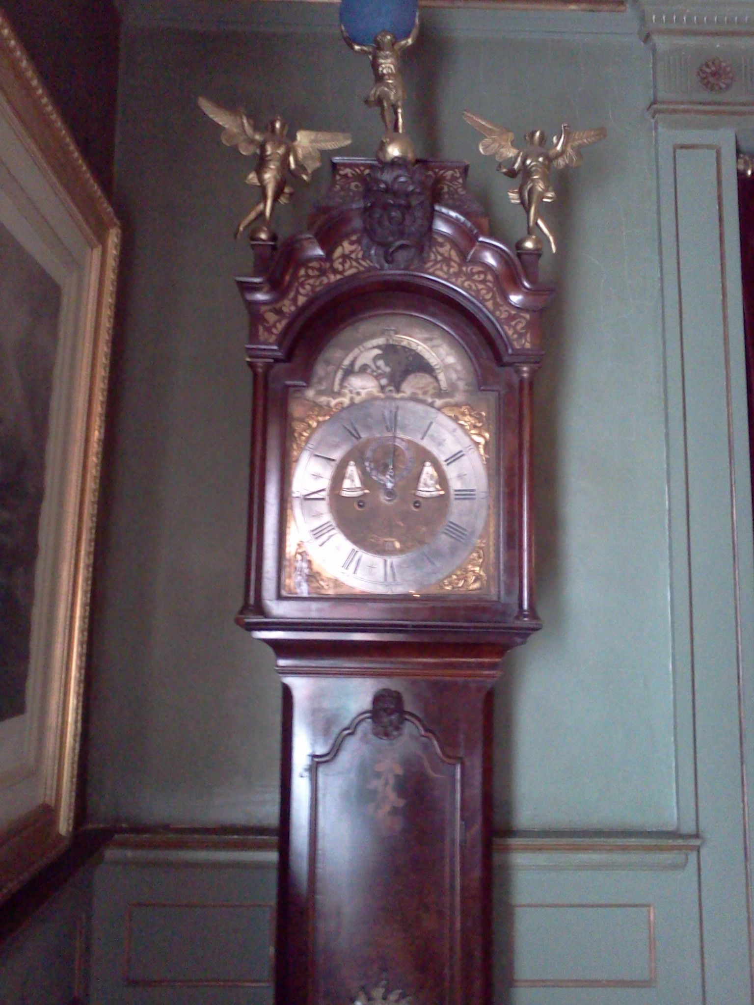 Beautiful Grandfather Clock In Dining Room Near Entrance To Den Was Given