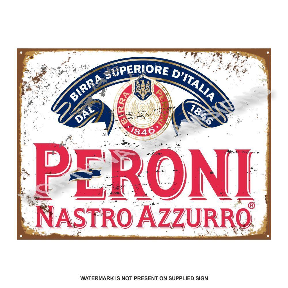 Peroni beer vintage pub advertising retro old sign tin for Vintage garage signs uk
