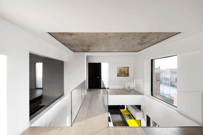 moderne wohnung in montreal mit modernem minimalistischen design haus pinterest raum. Black Bedroom Furniture Sets. Home Design Ideas
