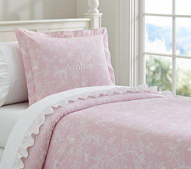 Fairy Dreams Toile Duvet Cover Shams Bedroom Makeover Pink Duvet Cover Duvet Covers