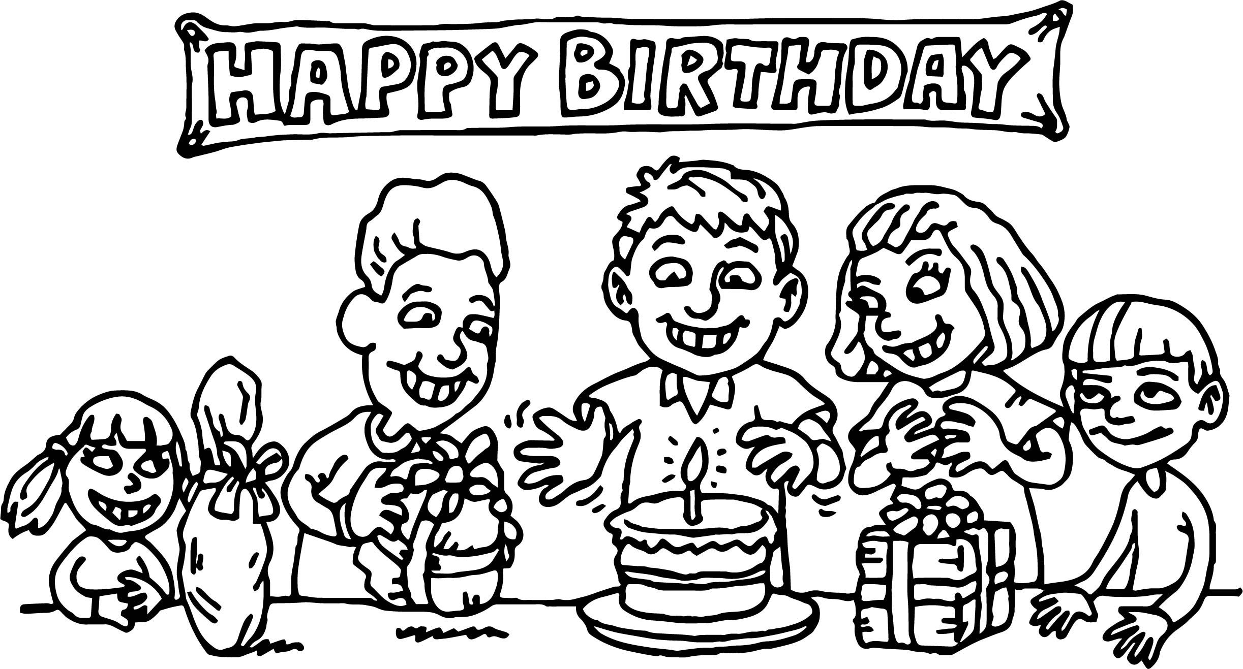 Cool Kids Birthday Party Coloring Page Fall Coloring Pages Coloring Sheets For Kids Kids Birthday Party