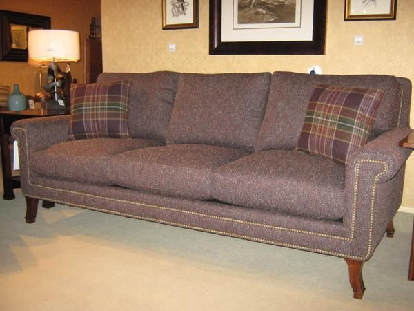 Solon Oh Today S Staff Pick Is The Charlottesville Sofa From Stickley Looking Regal In Plum And Plaid
