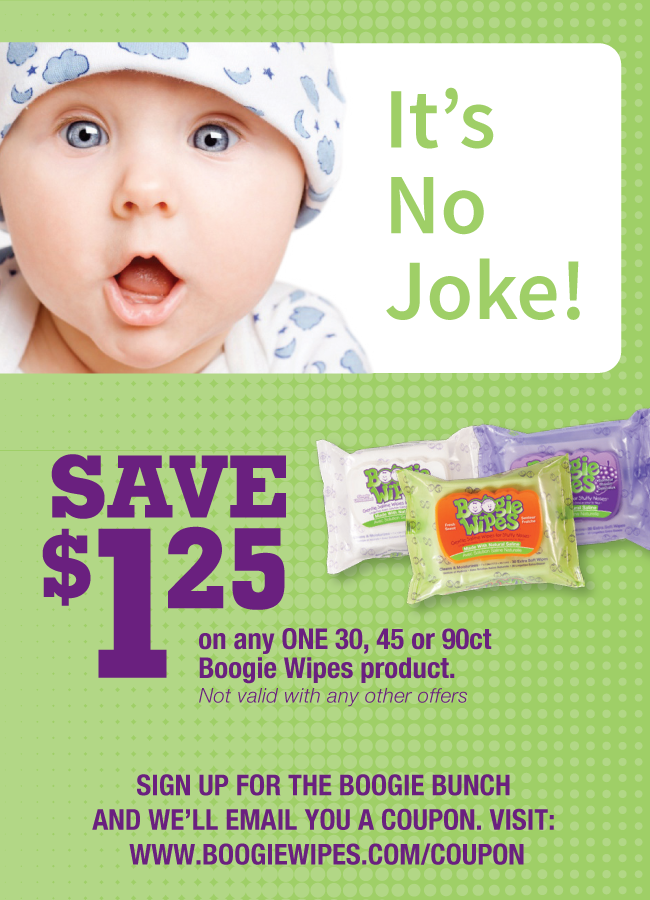 Save 1 25 On Boogie Wipes Visit Www Boogiewipes Com Coupon