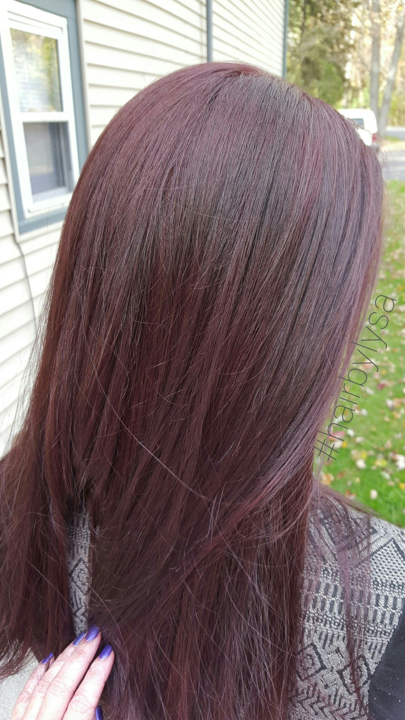 Rusk Hair Color Dark Violet Hair Color Hair Color Dark Hair