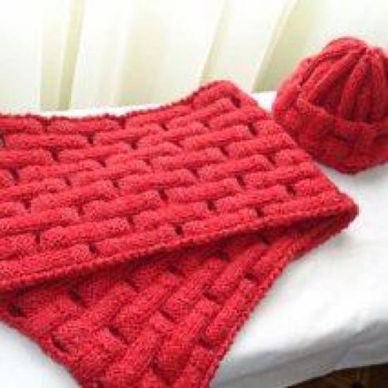 Gorros y bufandas tejidas a dos agujas - Imagui  310159ac42f