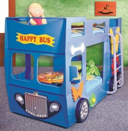 Blauer bus als kinderbett besondere kinderbetten - Kinderbett bus ...
