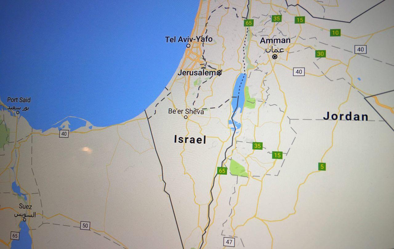 جوجل تفسر سبب عدم وجود اسم دولة فلسطين على خرائطها Be Er Sheva Port Said Suez