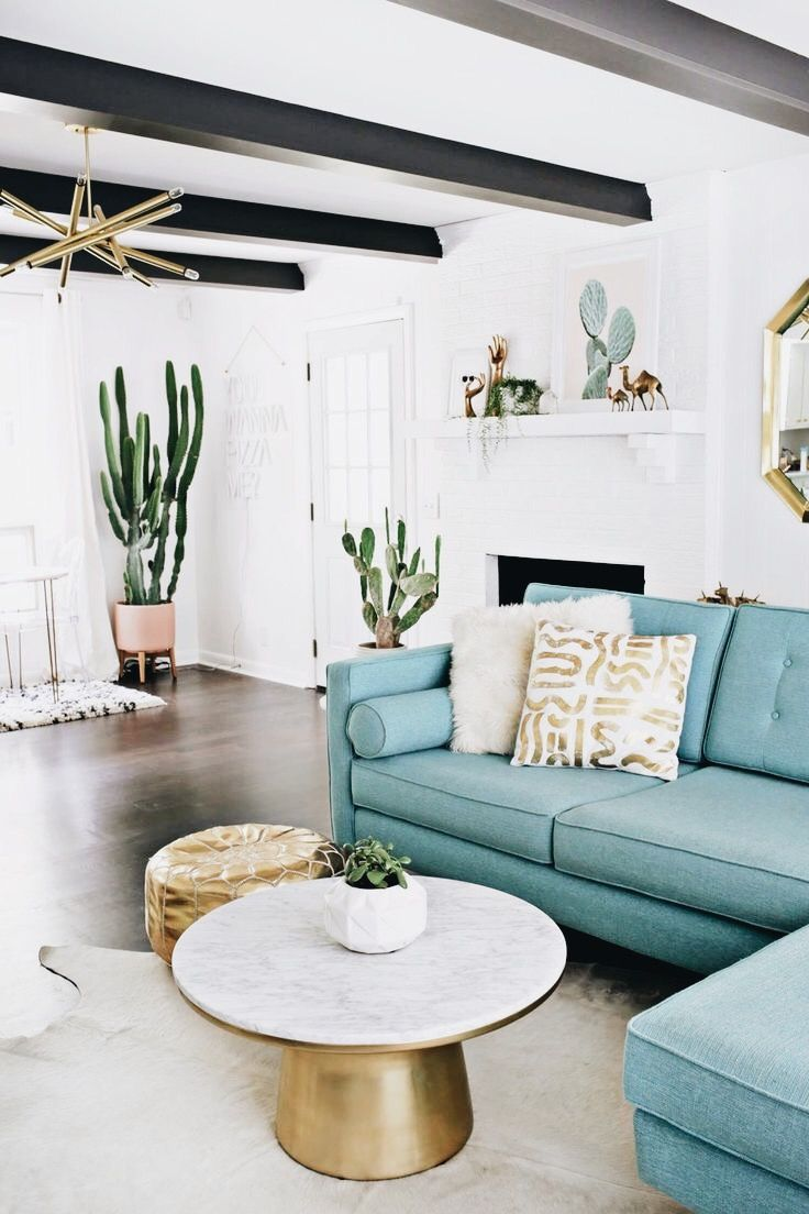 I 39 m in love with that tall cactus that gold and white - How tall should a coffee table be ...