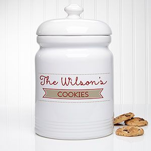 Our Family Personalized Cookie Jar Kitchen Canisterscookie