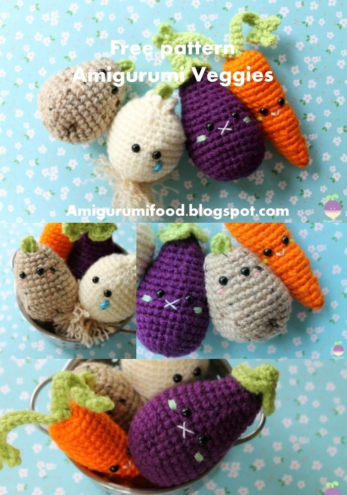 Padrões de crochet para frutas e vegetais Potholders (Portuguese Edition)