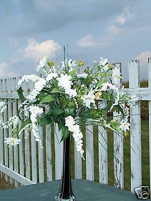 Classic Tall Black Tower Vases Wedding Planner Supplies Silk Florist Designer