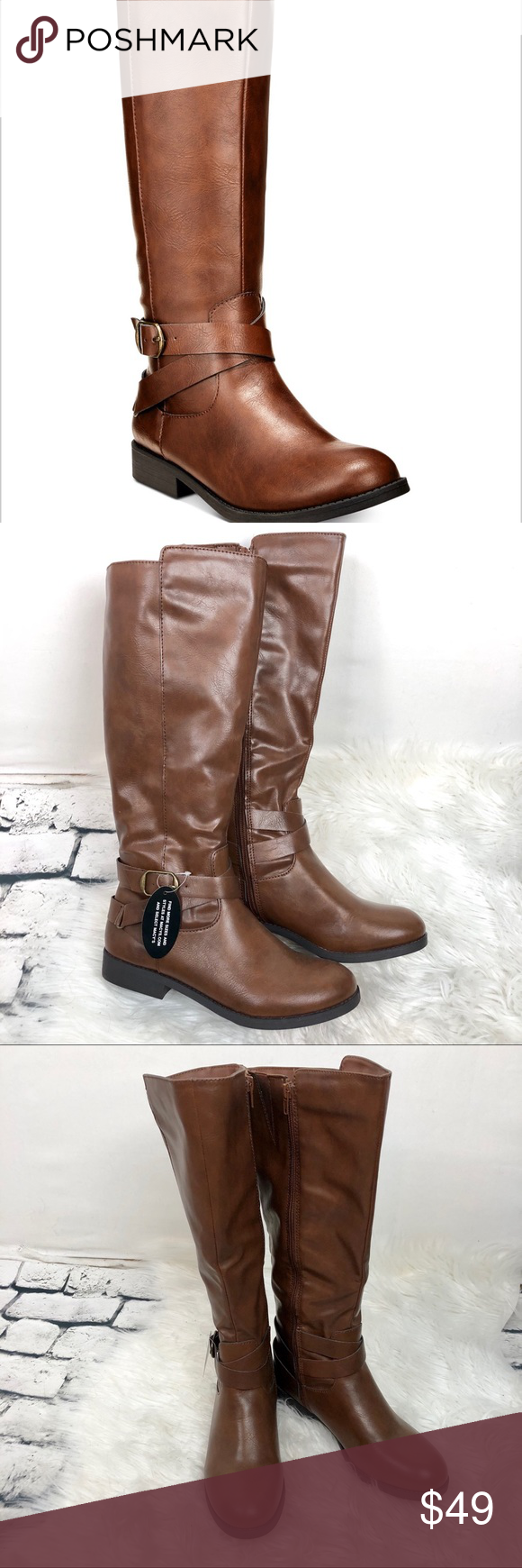 28d77f9939e Style Company Madixe riding boot Sz 8 M cognac Reasonable offers welcome  Style   Company (Macy s) NWT Cognac brown riding boots Sz 8 M Extender on  top of ...