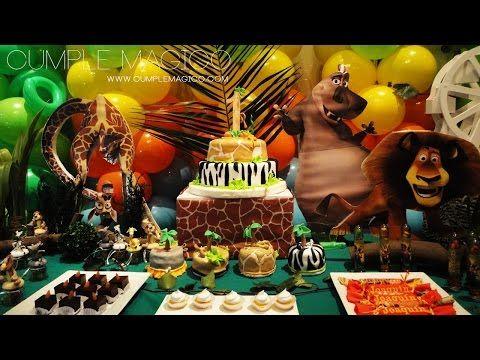 MADAGASCAR Candy Bar Selva Decoracin en globos YouTube