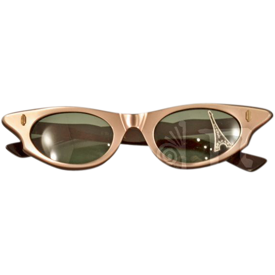 26d2aa98773 These vintage French sunglasses just scream retro glamour. These beauties  have a great cat eye shape with a lustrous iridescent taupe -- found at ...