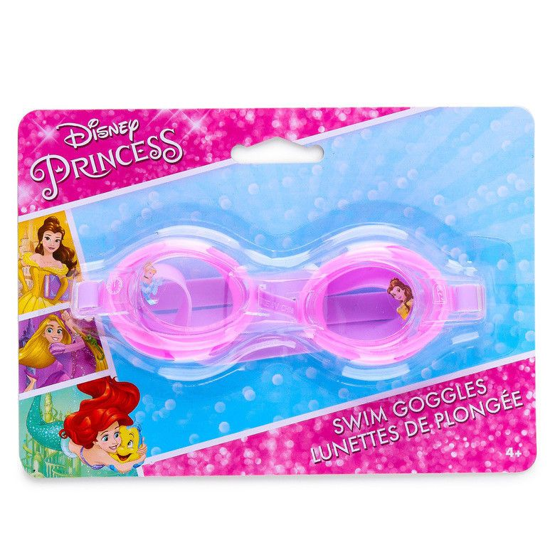 a472eaf905 Disney Princess Swim Goggles Pink Ariel Belle for Kids One Size Fits Most  NWT  Disney