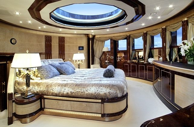 Beautiful Charter Yacht Master Bedroom