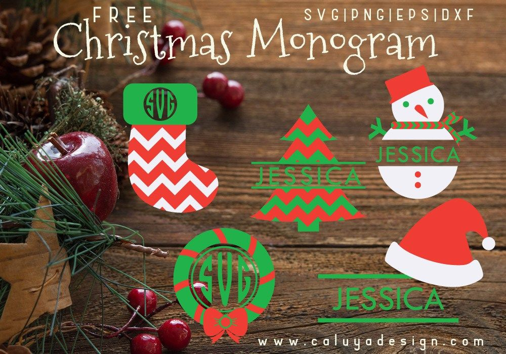 Christmas Monogram Free Svg Png Dxf Eps Download Christmas Monogram Christmas Svg Christmas Svg Files
