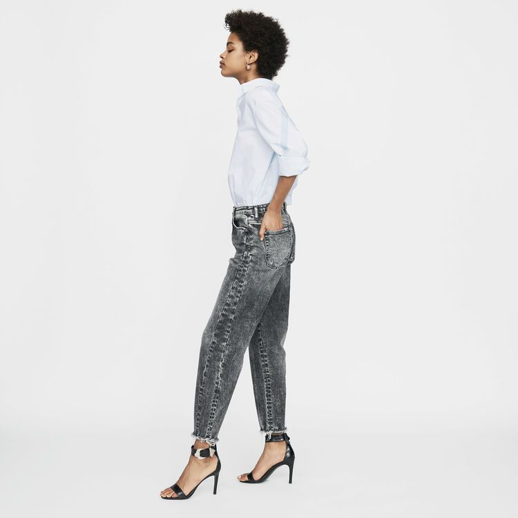 206502fef582e PAOLA Wide leg distressed jeans in 2019   Parisian Style ...