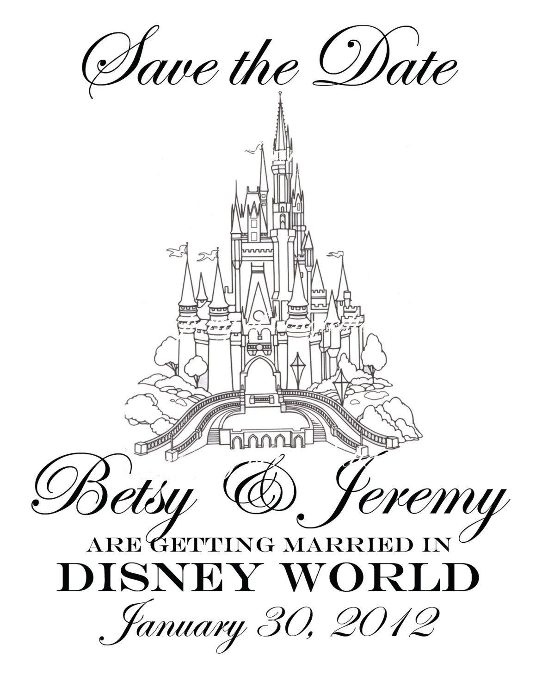 Disney Wedding Invitation Save the Date DIY by tangledtastic | <3 ...