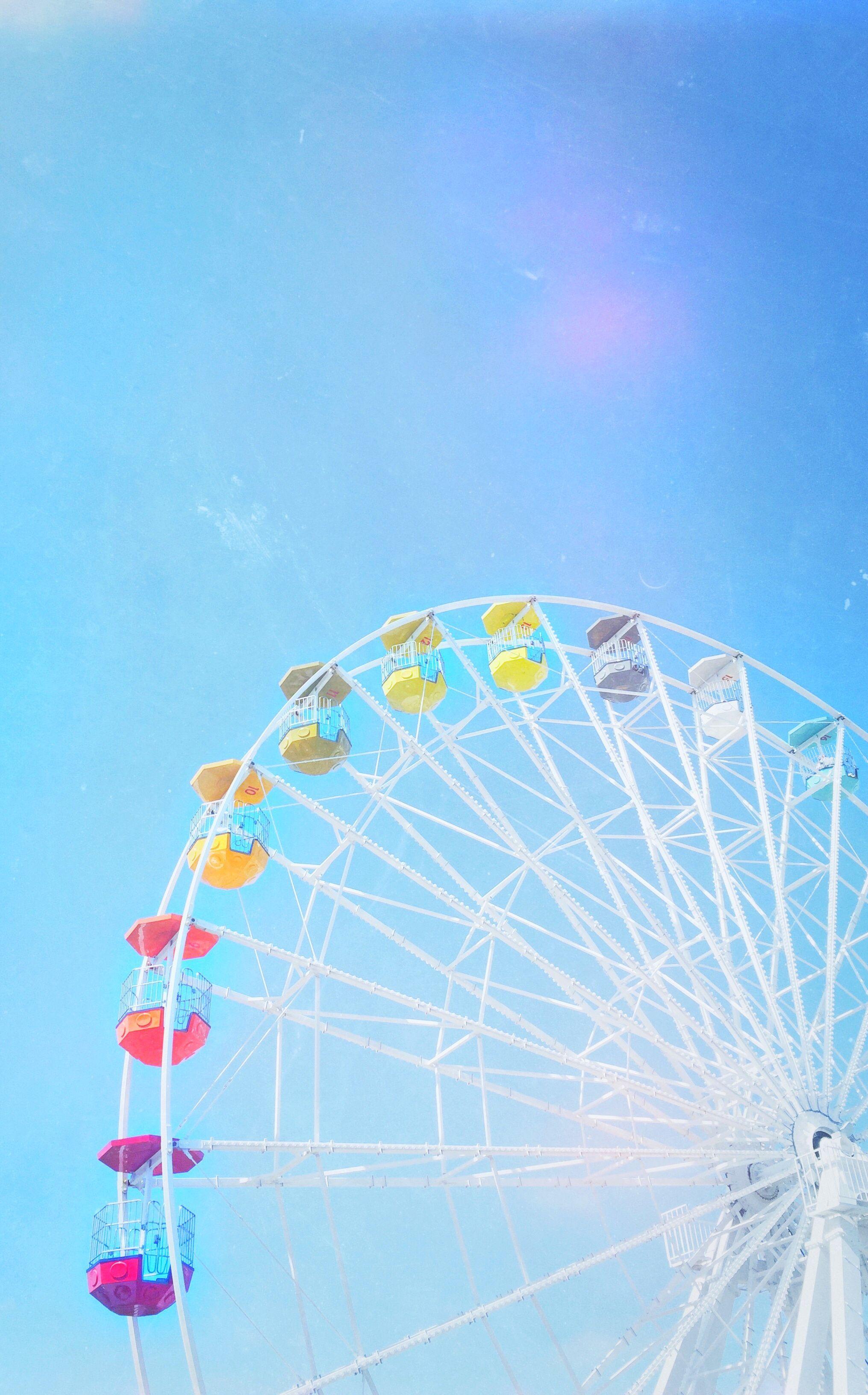 Everyday rainbow, summer photos. Ferris wheel of dreams