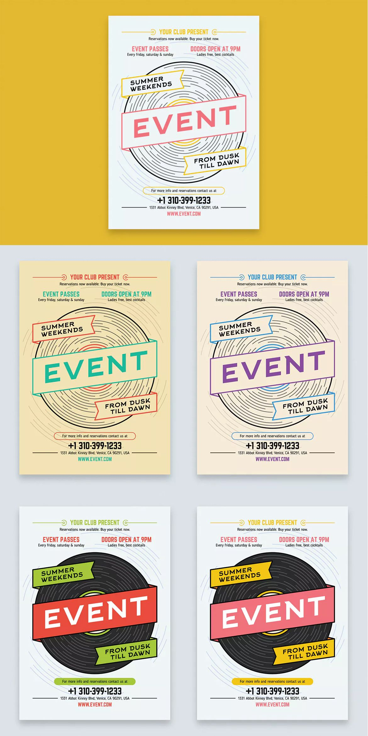 Music Event Poster Template AI - A2   Poster Templates   Pinterest ...