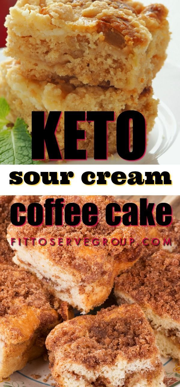 It S A Tender Buttery Moist Flavor Packed Keto Sour Cream Coffee Cake It Features A Generous Ci Sour Cream Coffee Cake Low Carb Recipes Dessert Coffee Cake