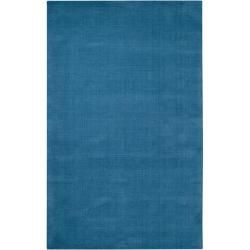 overstock - hand-crafted teal blue solid casual 'ridges' wool