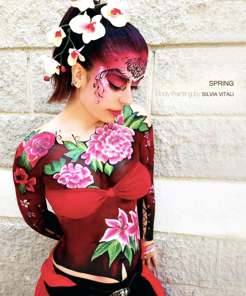 Sissy adult bodypainting