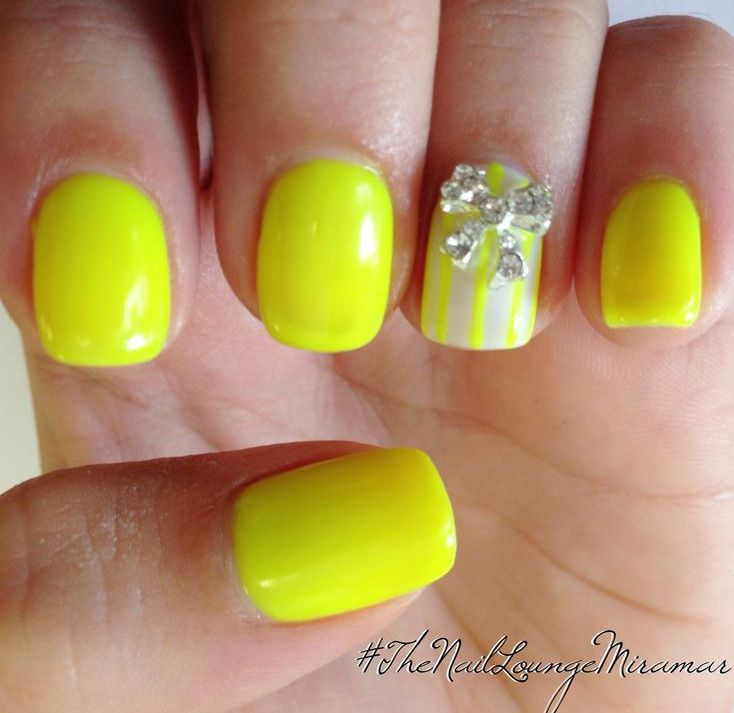 Bright Yellow Nail Designs for Teen Girl | Manicure | Pinterest ...