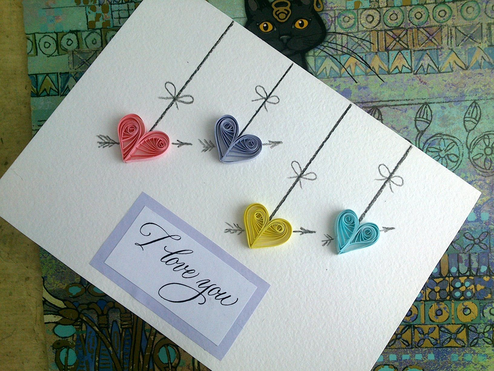 Quilling Valentine's Day cards: make paper Quilling Valentine's Day ...