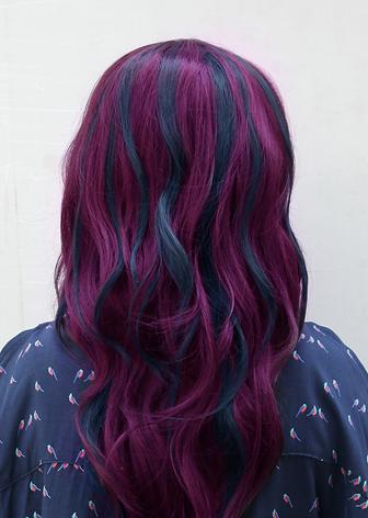 Purple Dark Blue Burgundy Hair Hair Styles Burgandy Hair