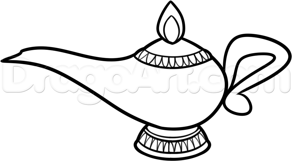 Картинка лампа аладдина нарисована
