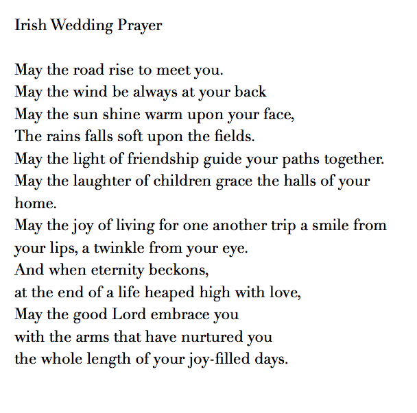 Irish Wedding Prayer Blessing Talk With Your Officiant About The