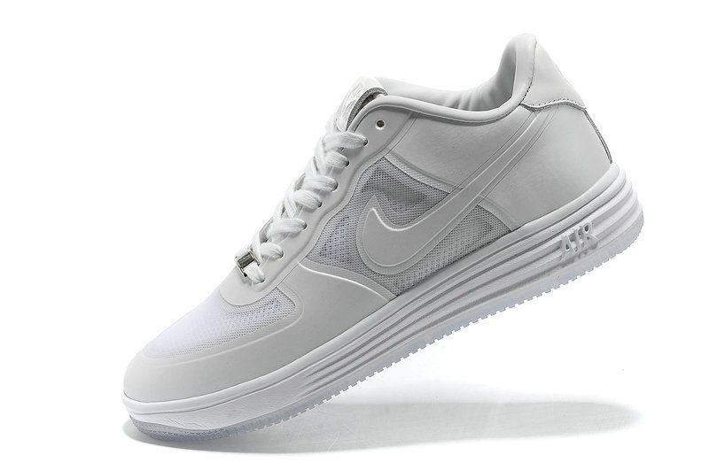 brand new 6c243 31f40 Nike Lunar Force 1 Fuse All White Reflective Silver