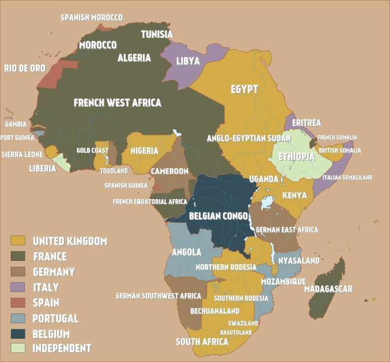 A map of colonial africa just before the outbreak of world war i a map of colonial africa just before the outbreak of world war i gumiabroncs Gallery