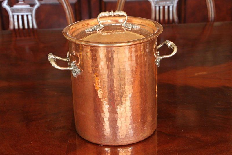 Hammered copper pot http://estatesales.org/westport-ct-estate-sales/westport-single-owner-estate-969909/gallery?p=260