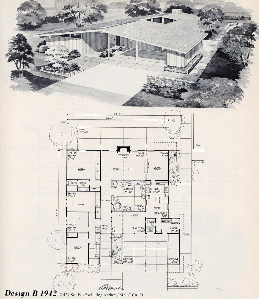 Untitled Mid Century Modern House Plans Modern Floor Plans Vintage House Plans