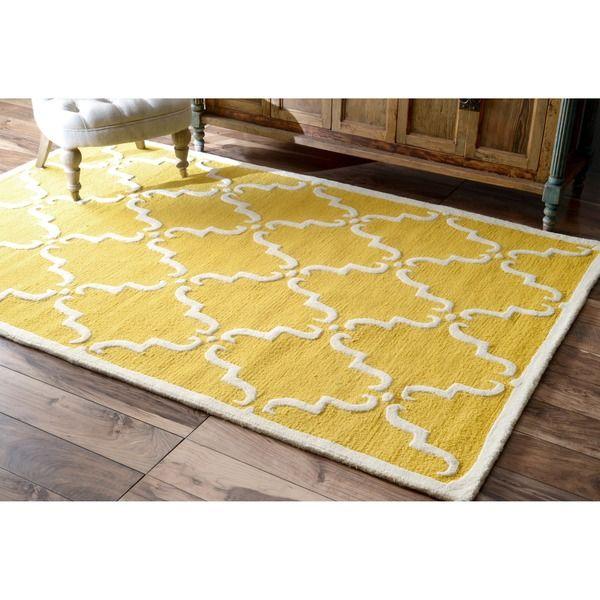 nuLOOM Handmade Luna Marrakesh Trellis Wool Area Rug 7'6