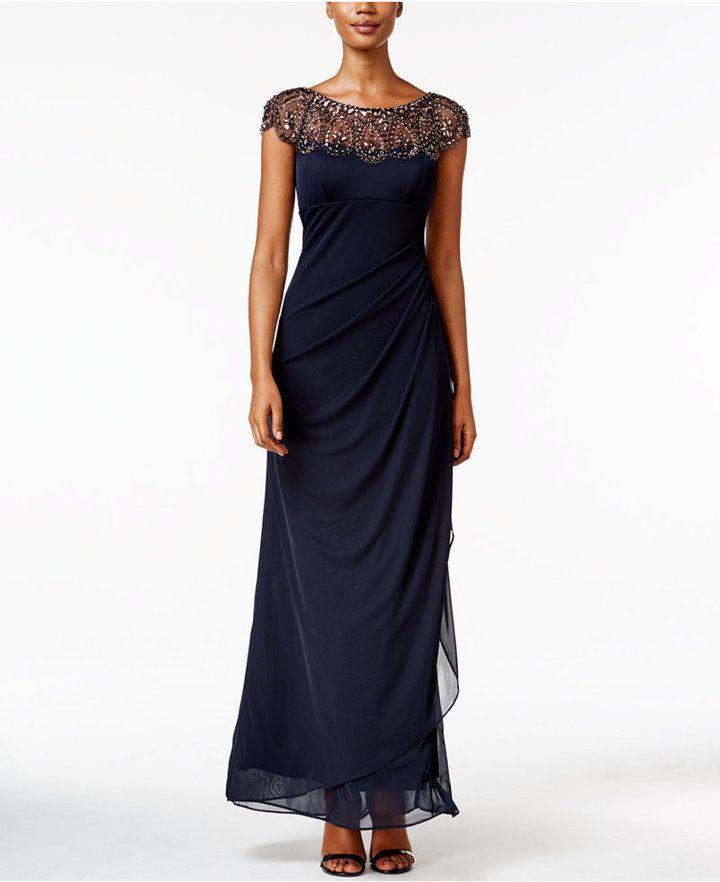 c4eca8a61 Xscape Evenings Petite Embellished Illusion Gown | fashion | Drape ...