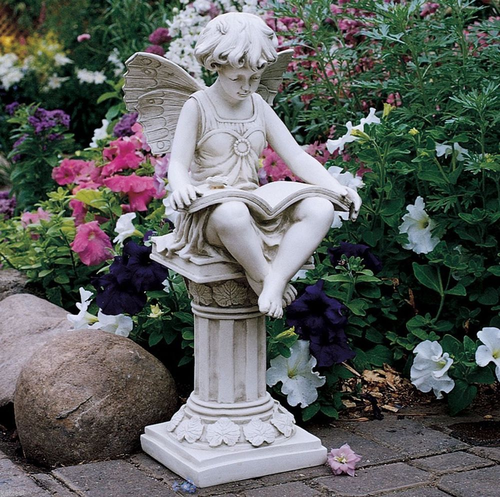 Fairy lawn ornaments - Details About Fairy Reading Garden Statue Angel Outdoor Home Yard Sculpture Lawn Ornament New