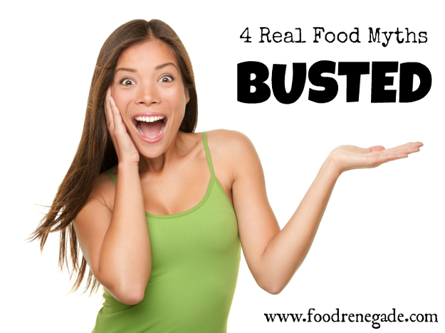 Have you fallen for these Real Food Myths?  Want to learn how to make real food easy, take less time, require less energy, and stay convenient?