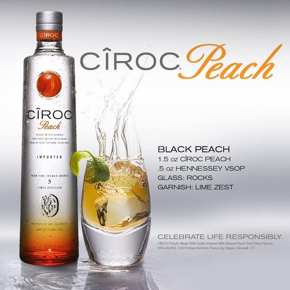 Ciroc Black Peach Ciroc Drinks Peach Drinks Mixed Drinks Recipes