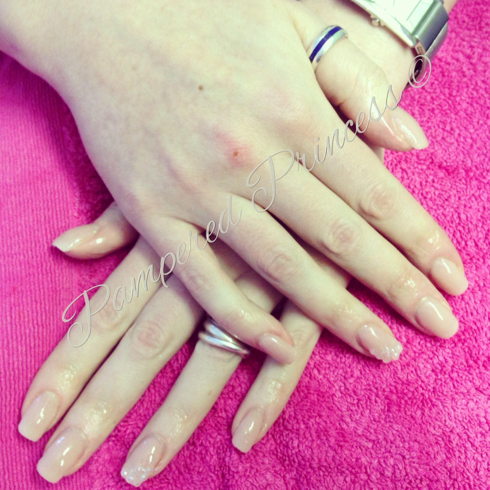 Nude! Acrylics! Diamante! Nail Art! | Nailed It... | Pinterest